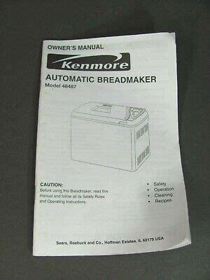 Kenmore Bread Maker User Manual (ePUB/PDF)