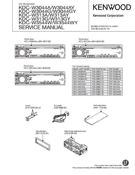 Kenwood Kdc W3044a W3044ay Service Manual (Free ePUB/PDF)