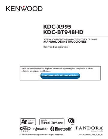 Kenwood Kdc X995 Manual (ePUB/PDF)