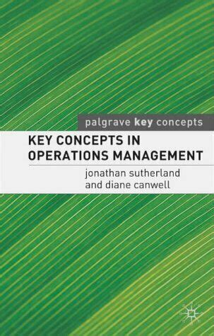 Key Concepts In Operations Management Palgrave Key Concepts