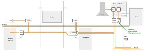 kitchen socket wiring diagram