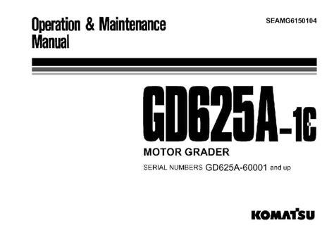 Komatsu Gd625a 1 Manuals (ePUB/PDF)
