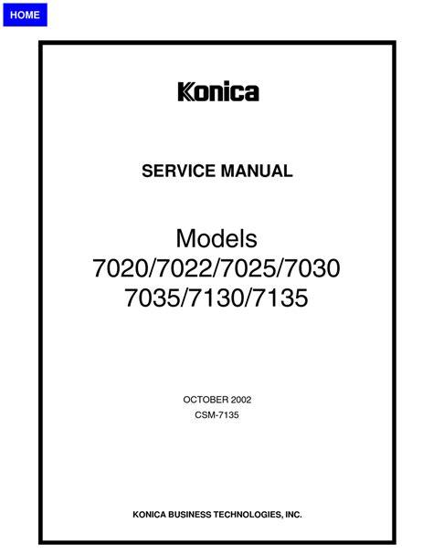 Konica Minolta Service Manual Free (ePUB/PDF)
