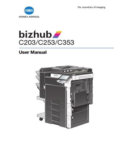 Konica Minolta Bizhub C353 Manual English - gitlab.panel.user ...