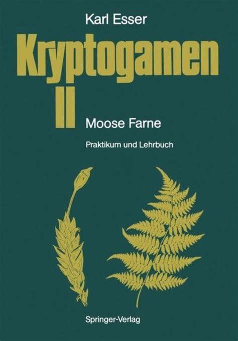 Kryptogamen Ii Moose Farne Esser Karl Rathke H J Kmper J (ePUB/PDF)