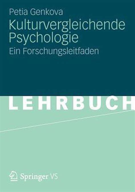 Kulturvergleichende Psychologie Genkova Petia (ePUB/PDF)
