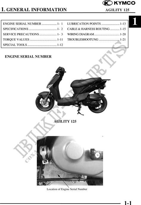 Kymco 125 Workshop Manual (ePUB/PDF) Free