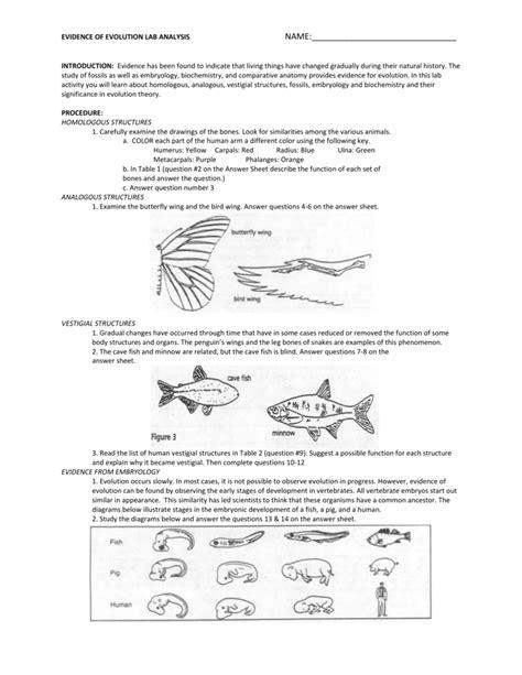 Lab Evidences Of Evolution Answer Key (ePUB/PDF) Free