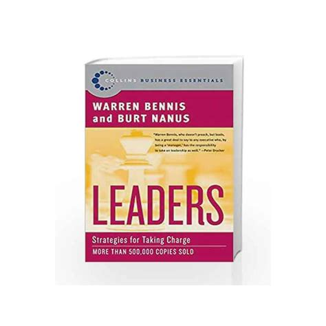 Leaders Strategies For Taking Charge Collins Business Essentials