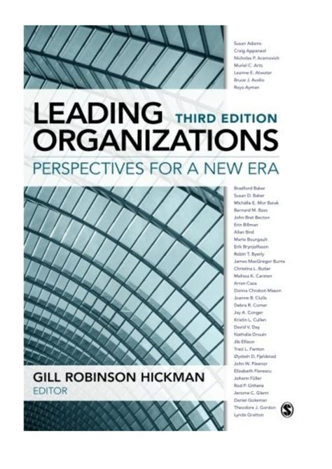 Leading Organizations Perspectives For A New Era