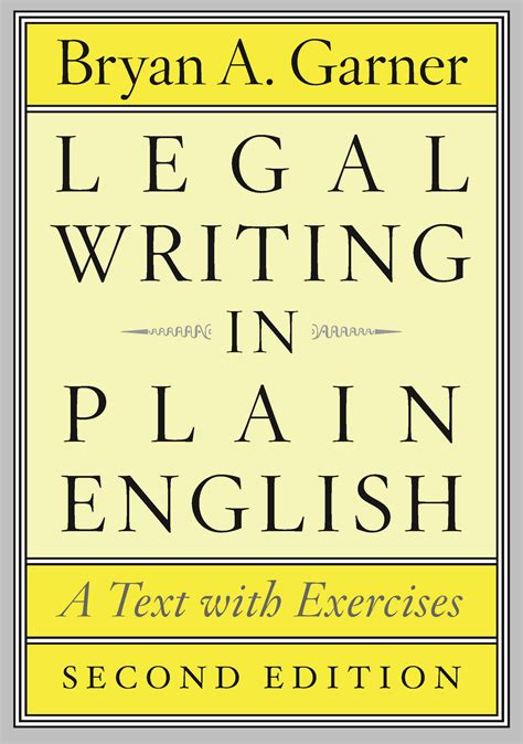 Legal Writing In Plain English Second Edition A Text With Exercises
