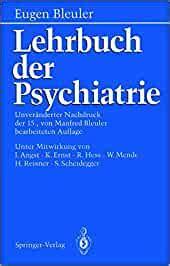 Lehrbuch Der Psychiatrie Angst J Bleuler E Ernst K Bleuler M Hess ...