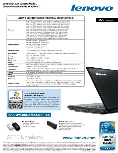 Lenovo G550 Manual Pdf (ePUB/PDF)