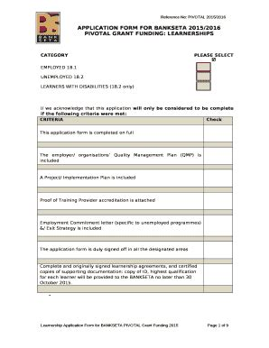 Letsema Learnership 2015 2016 Application Form (ePUB/PDF)