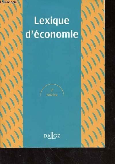 Lexique Deconomie