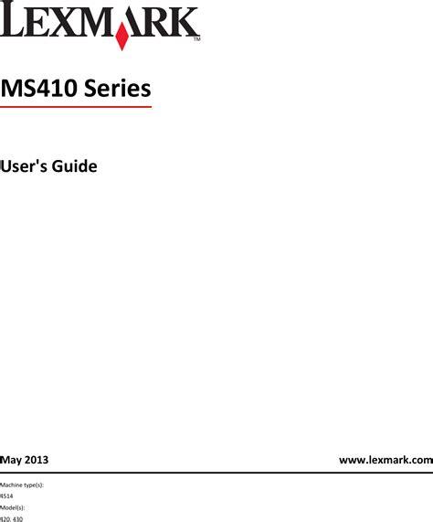 Lexmark Owners Manual (ePUB/PDF) Free