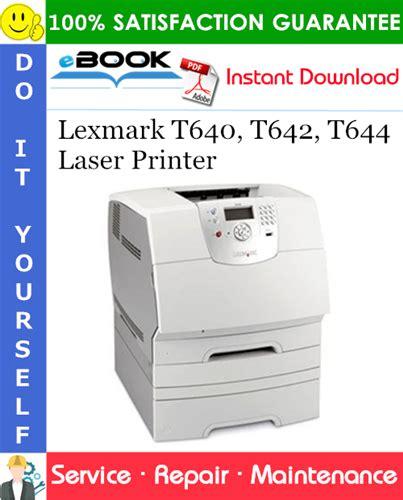 Lexmark T644 Printer Manual (ePUB/PDF)