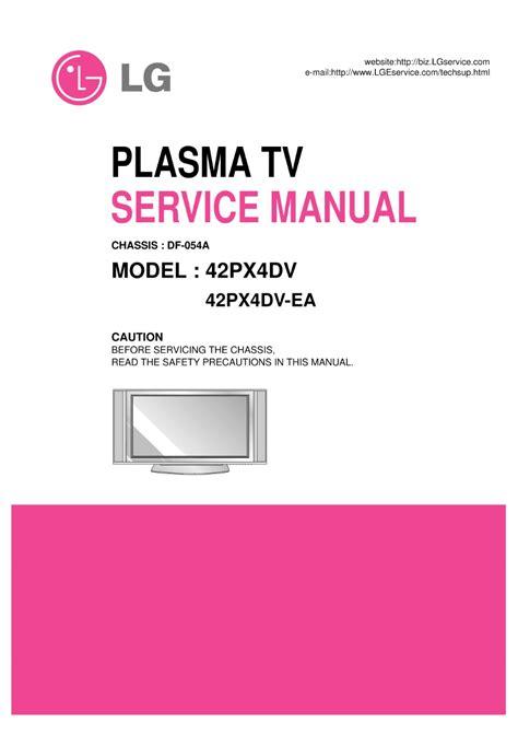 Lg 42px4dv Service Manual (ePUB/PDF) Free