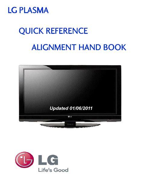 Lg Plasma Quick Reference Panel Alignment Handbook (ePUB/PDF)