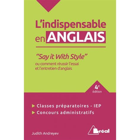 Lindispensable En Anglais Say It With Style 2e Edition