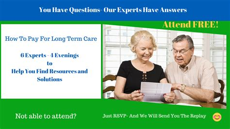 Long Term Care How To Plan Pay For It