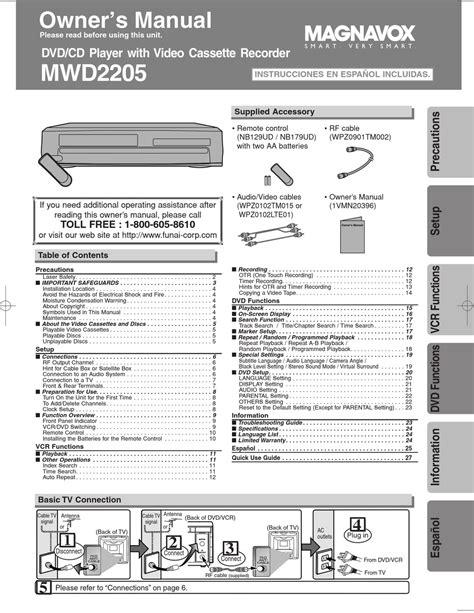 Magnavox Manual (ePUB/PDF)