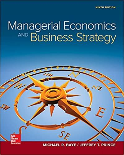 Managerial Economics Business Strategy Mcgraw Hill Series Economics