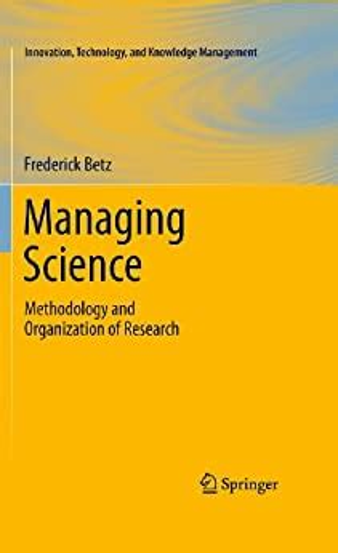 Managing Science Betz Frederick (ePUB/PDF)