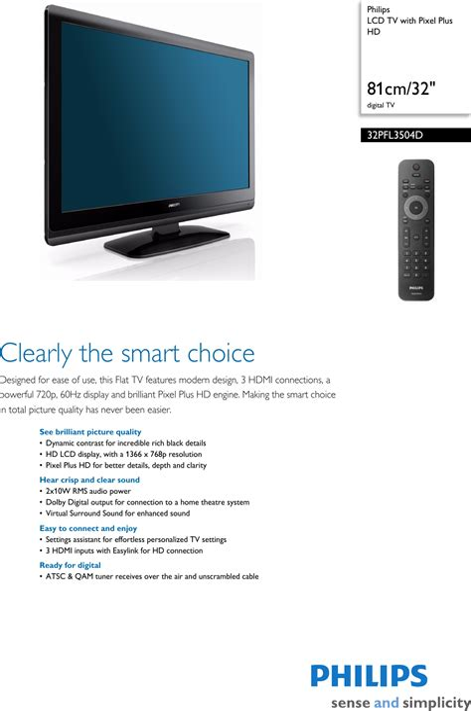 Philips Flat Screen Tv Problems