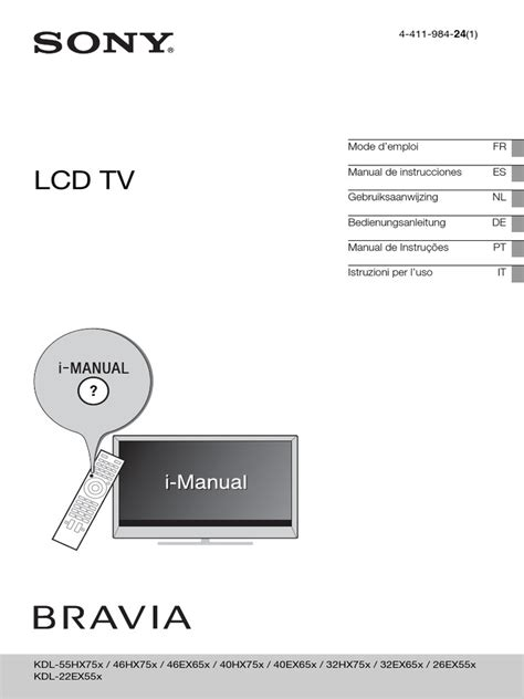Manual De Instrues Tv Sony Bravia (ePUB/PDF) Free