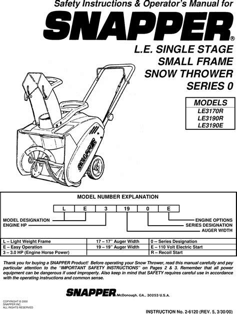Manual For Snapper Model (ePUB/PDF) Free