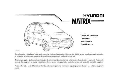 Manual Hyundai Matrix Torrent (ePUB/PDF)