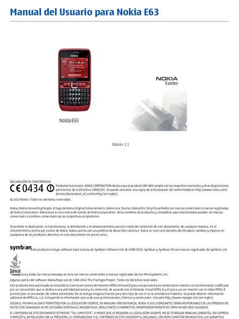 Manual Nokia E63 (ePUB/PDF)