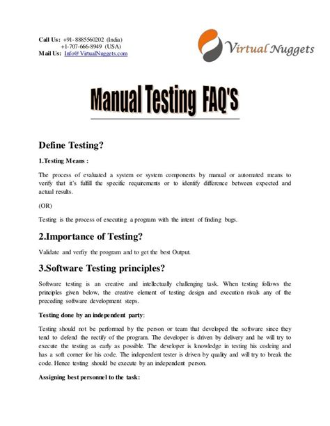 Manual Testing Interview Questions And Answers For Experienced