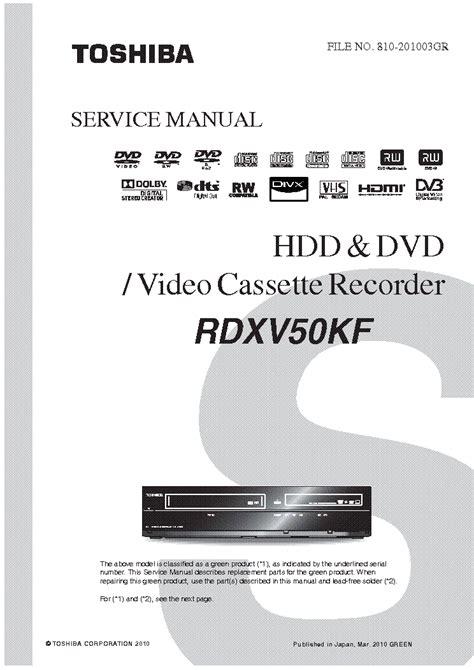 Manual Toshiba Dvd Recorder Problem (ePUB/PDF)