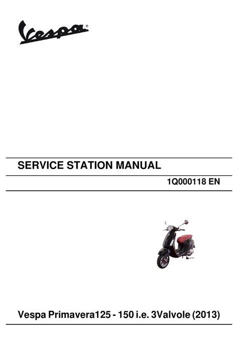 Manual Vespa Primavera Pdf (ePUB/PDF) Free