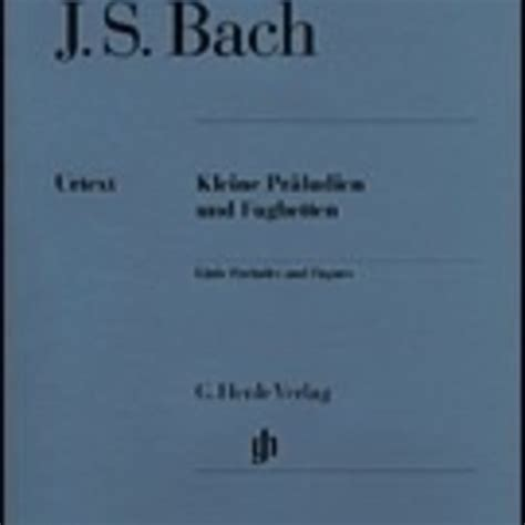 Master Composer Library J S Bach Eighteen Little Preludes