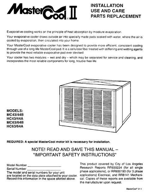 Mastercool Ii Manuals (ePUB/PDF) Free