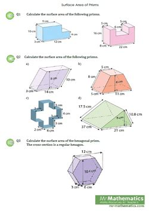Maths 4kids Surface Area Prisms (ePUB/PDF)