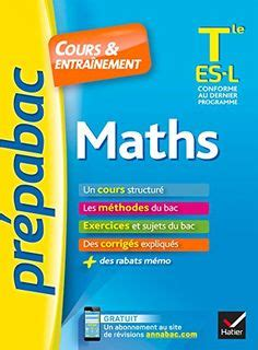 Maths Tle Es L Prpabac Cours Entranement