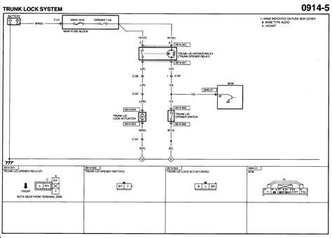 mazda 6 2004 horn wiring diagram