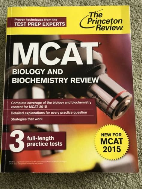 Mcat Biology And Biochemistry Review New For Mcat 2015 Graduate School Test Preparation