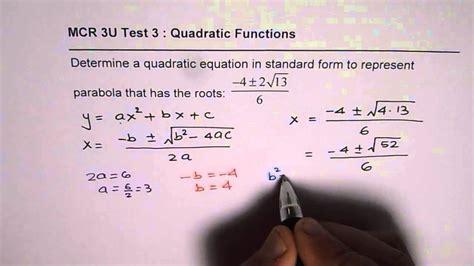 Mcr3u Quadratic Test (ePUB/PDF) Free