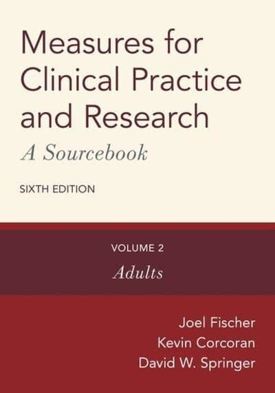 Measures For Clinical Practice A Sourcebook Volume 2 Adults