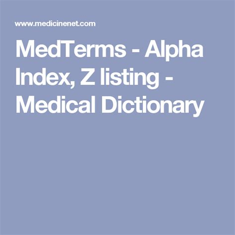 MedTerms Alpha Index H listing Medical Dictionary
