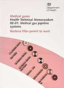 Medical Gas Pipeline Systems Bacteria Filter Permit To Work Health Technical Memorandum