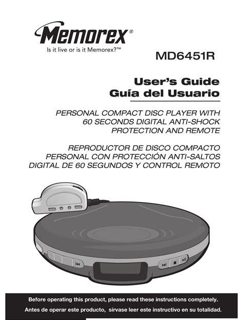 Memorex Md6451blk Cd Player Manual (Free ePUB/PDF)