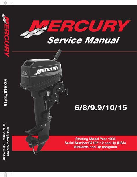Mercury Outboard Repair Manual Free (ePUB/PDF) Free