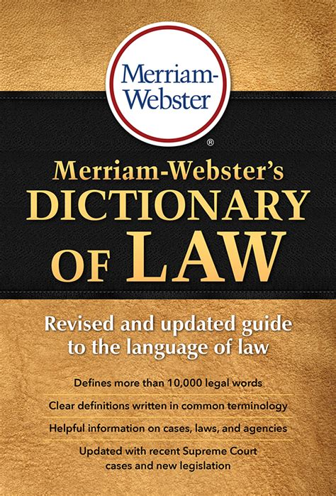 Merriam Websters Dictionary Of Law