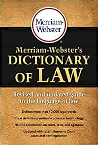 Merriam Websters Dictionary Of Law Revised Updated C 2016